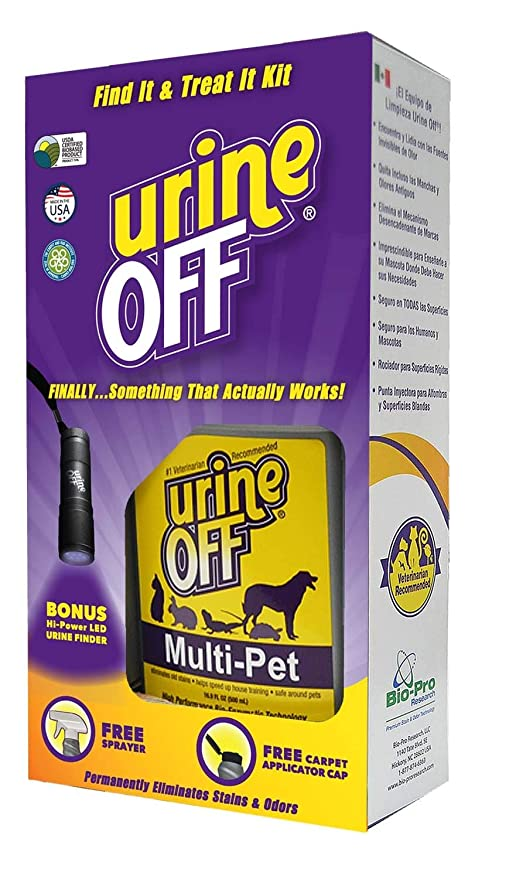 urineOFF Find it Treat it Kit for Multiple Pet Households, Stain and Odor Remover with
