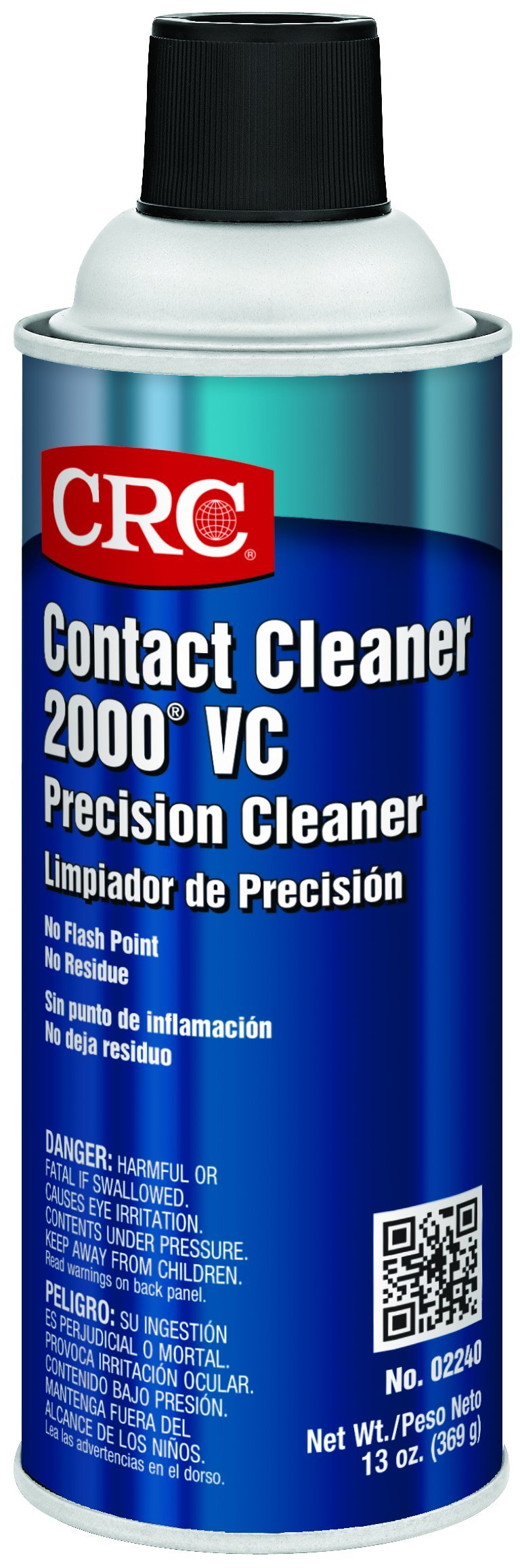 CRC Contact 2000 VC Precision Cleaner, 16 oz (Net Fill 13 oz) Aerosol Can, Clear
