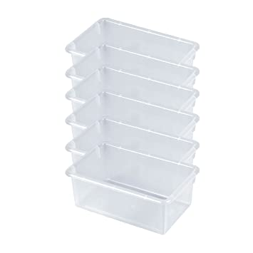Clear 6-Pack ECR4Kids Stack and Store Tubs