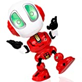 Force1 Mini Robot Talking Kids Toys - Ditto Robot Toy Mini Talking Robots, Travel Toys w/ Poseable Robot Body, LED Lights and Interactive Voice Changer (Red)