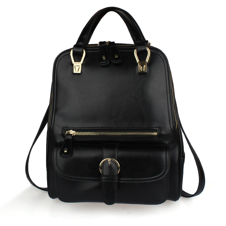 Women Girls Multifunctional Daypack, Dopobo Stylish Backpack for Shopping Travelling Dating (Black)