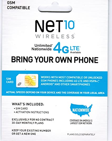 Net 10 Plans >> Free Net 10 Sim Card With 40 Everything Unlimited Plan For 30 Days