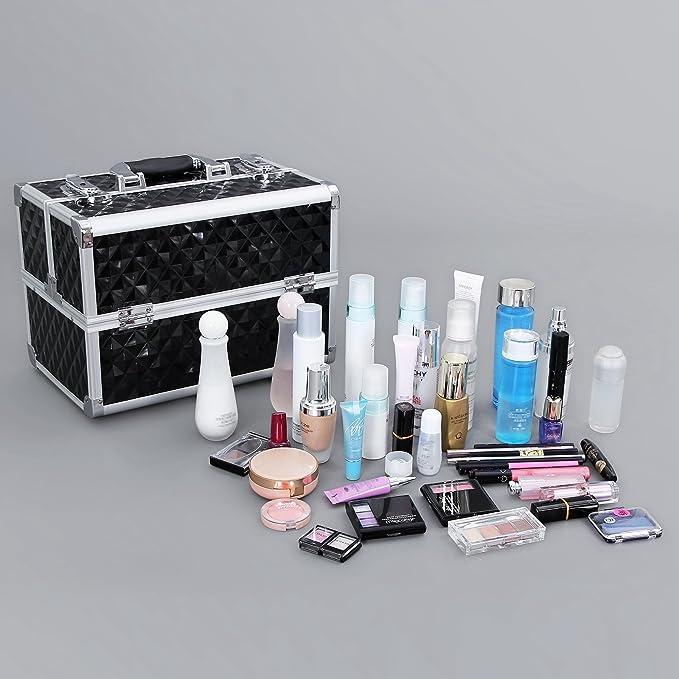 Amazon.com: Songmics - Caja profesional de cosméticos ...