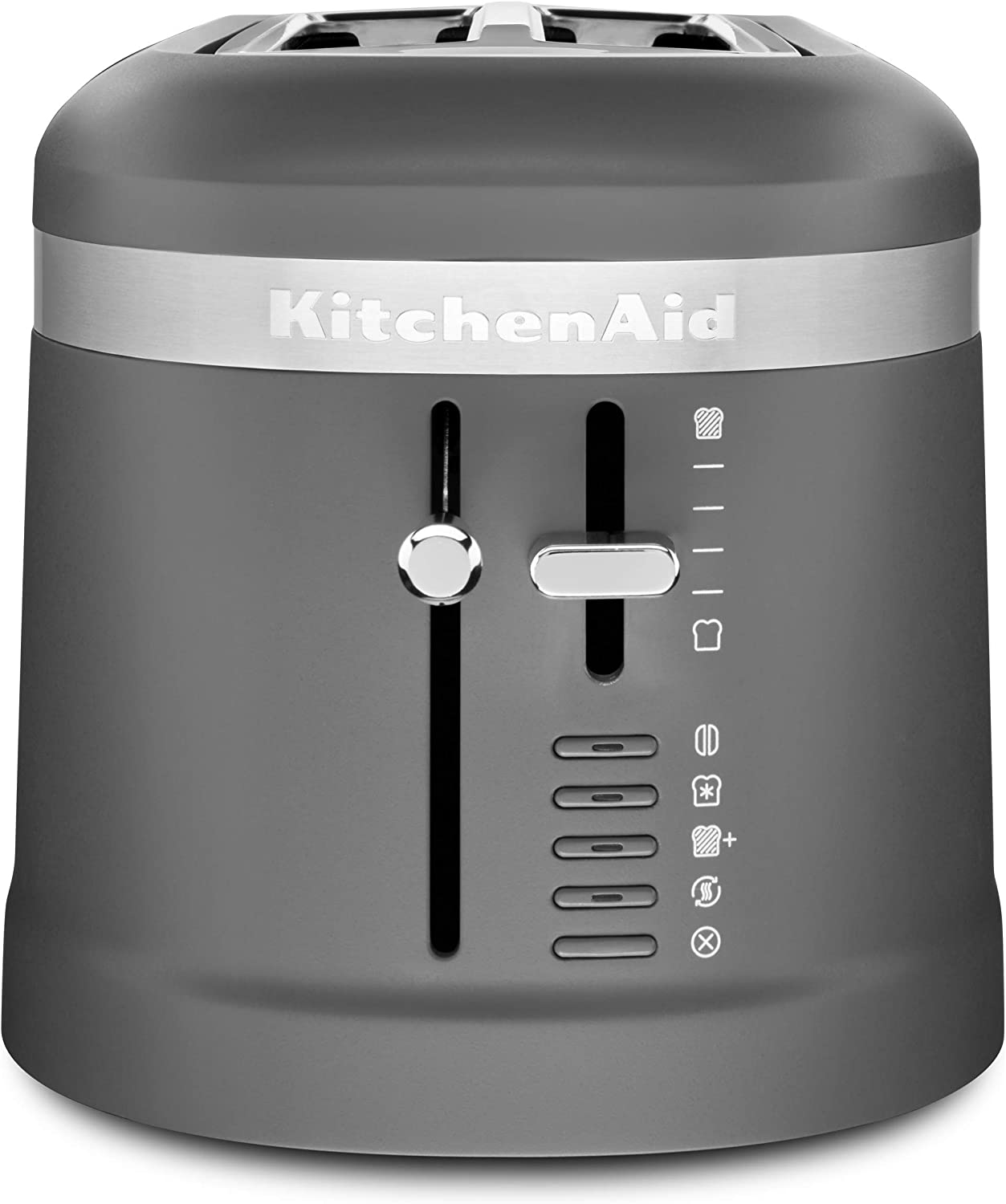 KitchenAid KMT5115DG Long Slot Toaster, 4 Slice, Matte Charcoal Grey (Renewed)