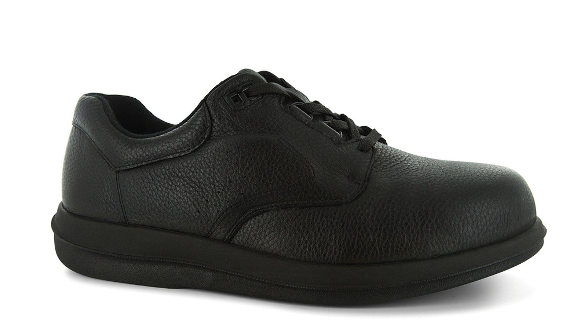 P W Minor Leisure Time Men's Therapeutic Extra Depth Shoe: Black 8 Wide (E) Lace