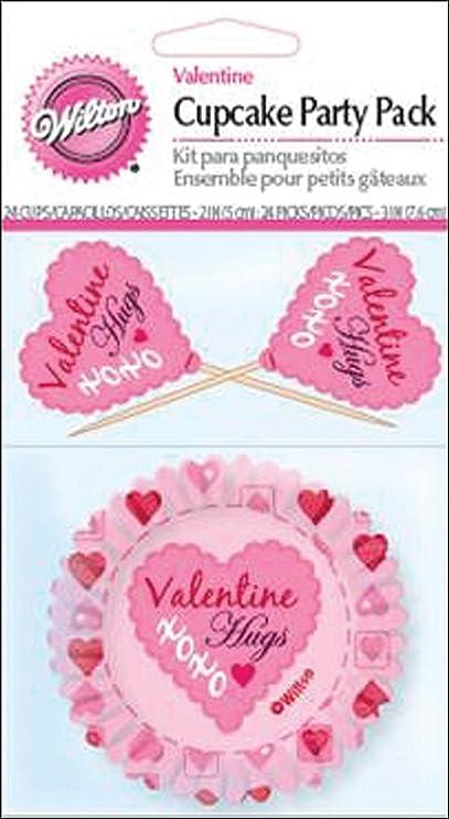 Wilton Cupcake Combo Pack 24/Pkg-Pink Damask
