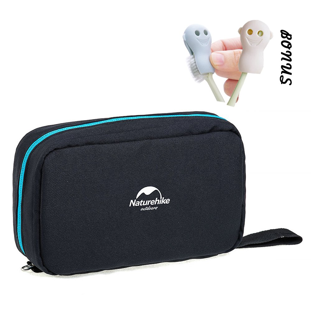 Toiletry Bag, Compact Toiletry Bag Large Storage Capacity with Hanging Hook, Waterproof Travel Organizer and Storage as Bathroom Accessories For Men & Women (Night Black)