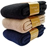 ZFang Men's 3-Pack Thick Warm Wool Winter Soft Crew Socks Size 6-12