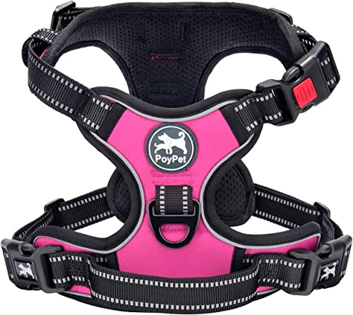 PoyPet-No-Pull-Dog-Harness,-No-Choke-Front-Lead-Dog-Reflective-Harness