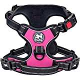PoyPet No Pull Dog Harness, [Upgraded Version] No Choke Front Lead Dog Reflective Harness, Adjustable Soft Padded Pet…