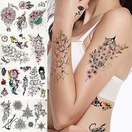 MRKAL Tatuaje Falso Tatuaje Mujeres Flash Pulsera Tatuaje Temporal ...