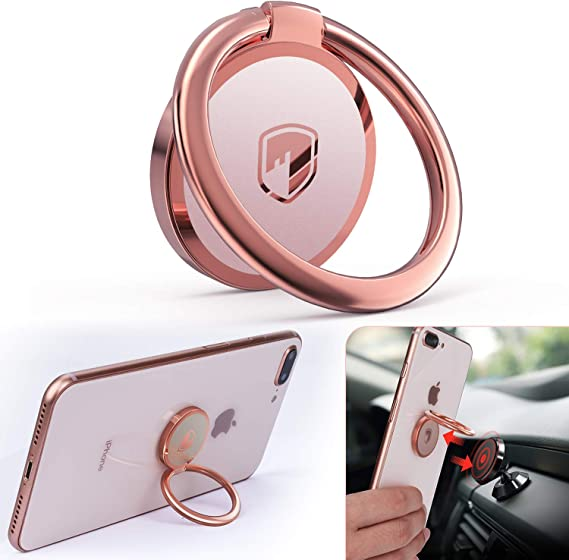 Compatible with All Smartphone Cell Phone Ring Holder Stand 360 Degree Rotation Finger Kickstand Universal Ring Grip