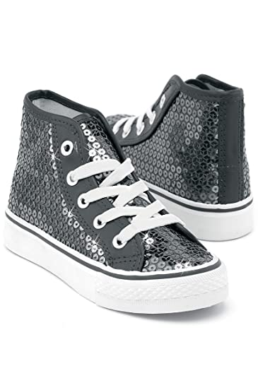 7c565a50eb2b Amazon.com  Balera Sneakers Girls Shoes for Dance with Sequins High Top  Womens Lace Up Shoes  Shoes