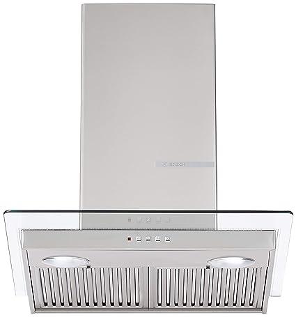 Bosch 60cm 800 m3/hr Chimney (DWG068D50I, 2 Baffle Filters, Steel/Grey)