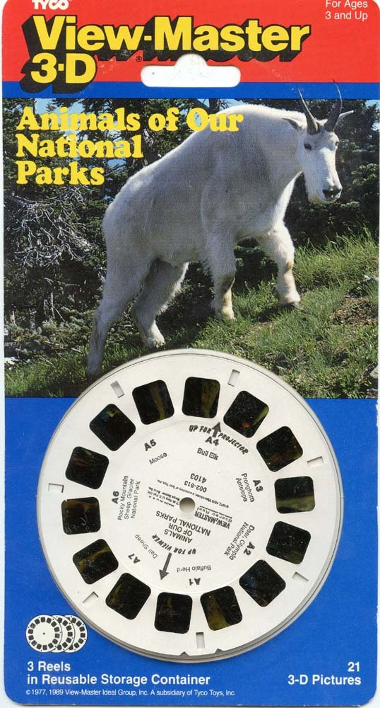 ViewMaster -Animals of our National Parks - 3 reels on card - NEW 3Dstereo ViewMaster