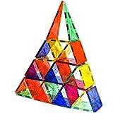 Magnet Tiles Mag-Genius Award Winning building Tiles Clear Colours 3D Brain Building Blocks Set Of 32 Pieces Mag-Genius