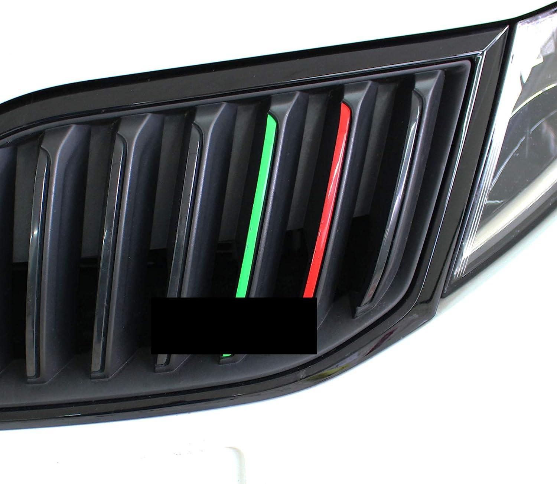 Stoßstangen Aufkleber Streifen 6x21cm alle Skoda Modelle Octavia RS Superb Fabia
