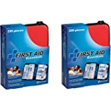 First Aid Only All-purpose First Aid Kit yBNgDY, Soft Case with Zipper, (Pack of 2) -299 Piece Kit QaSEzX, Large, Color Varies