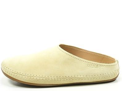 Haflinger 488023 Everest Softino Damen Herren Hausschuhe Pantoffeln Leder, Schuhgröße:36;Farbe:Grün