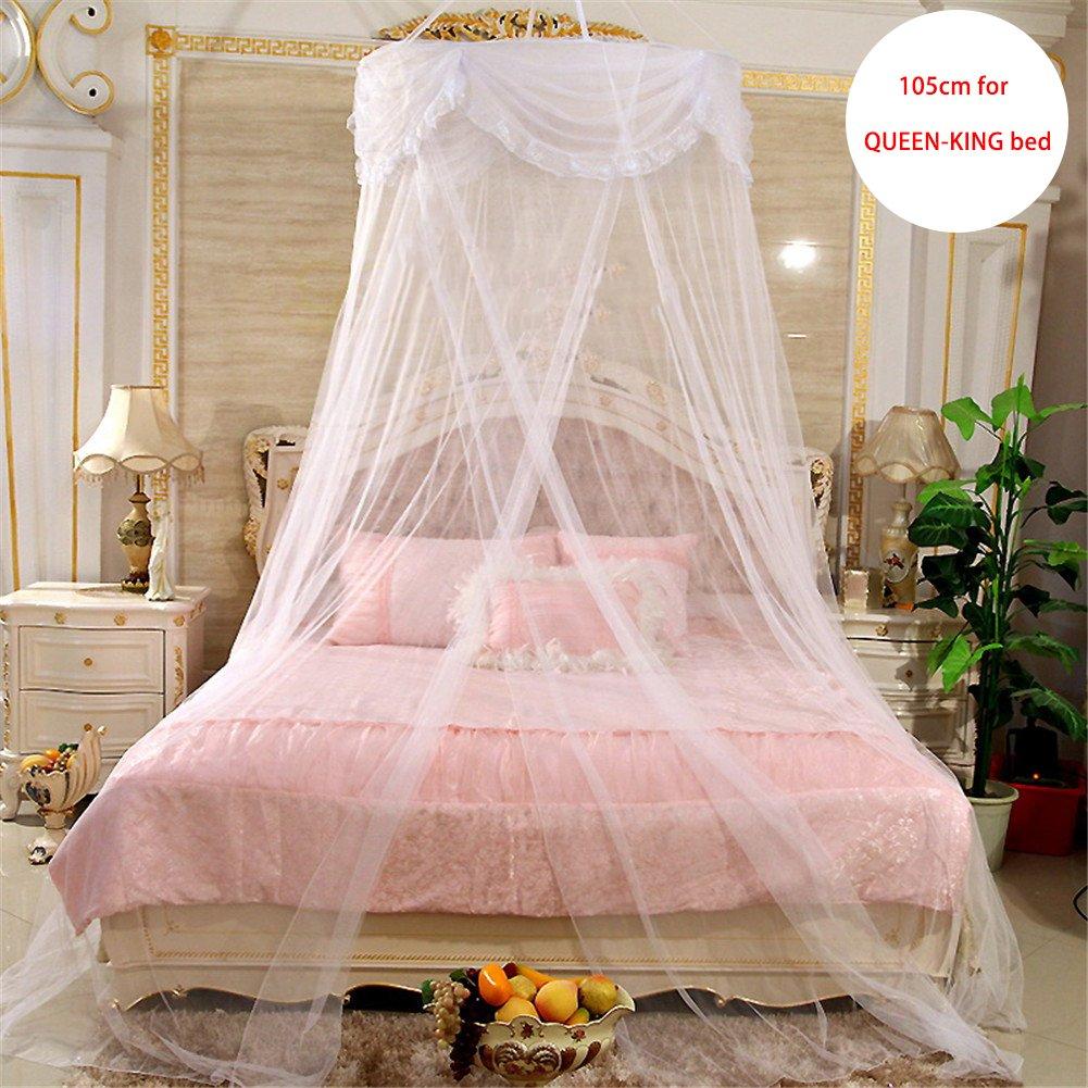 Polyester Unbekannt Per Romantic Princess Dome Netz Vorh/änge Heighten Hanging Baldachin 290 cm mit runder Spitze Spielzelt Moskitonetz f/ür Doppelbett und Queen-Bett 2 65 cm Rose
