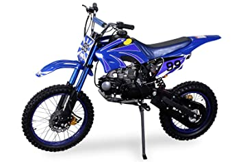 Moto cross dirt bike 125 cc azul para niños y adolescentes: Amazon.es: Coche y moto