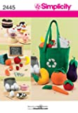 Simplicity Sewing Pattern 2445 Craft, Felt Food, Egg Carton and Bag, One Size
