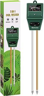 SLAOUWO Soil pH Meter, Soil Moisture Meter for Plants, Soil Light