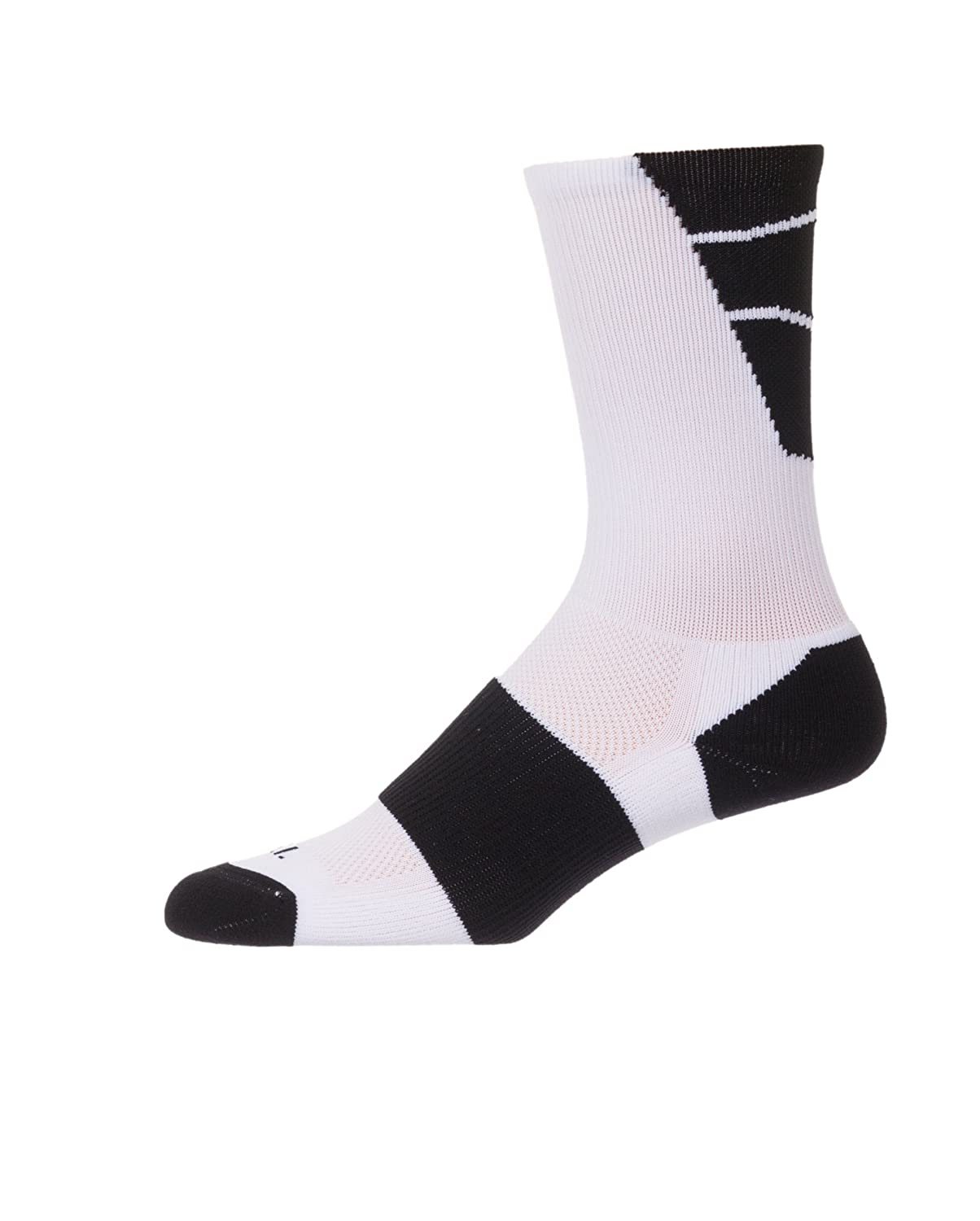 CSI Point Guard Performance Crew Socks Made In The USA White/Black 6MAN13023