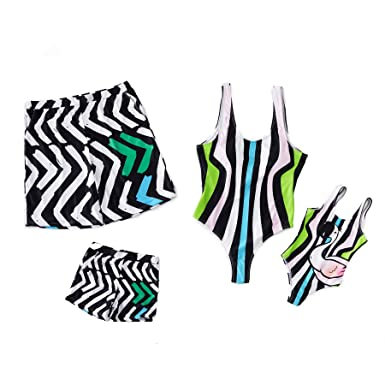 f016eb19cd Yaffi Family Matching Swimsuit Women Girl Men Boy One Piece Beach Wear  Sporty Monokini Bathing Swimwear