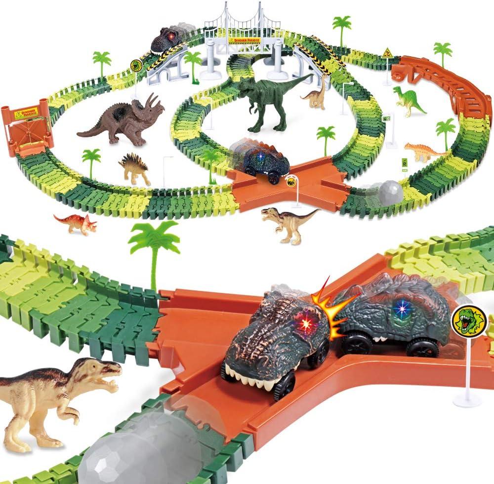 DINOSAURE Aventures Track Twistable déformable Tracks 218 PC Kids Track Set Jouet