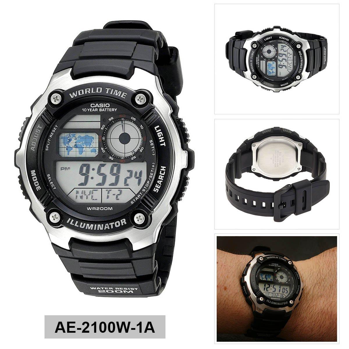 51145db18c1 Relógio Masculino Digital Casio AE-2100W-1AVDF - Preto  Amazon.com.br   Amazon Moda