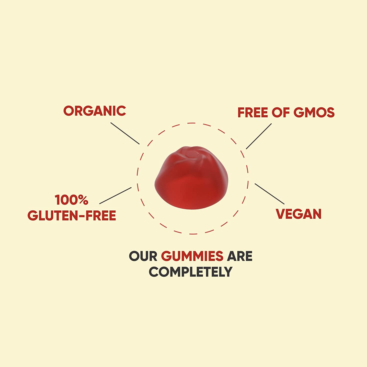 World's First Apple Cider Vinegar Gummy Vitamins by Goli Nutrition - Immunity, Detox & Weight - (1 Pack, 60 Count, with The Mother, Gluten-Free, Organic, Vegan, Vitamin B9, B12, Beetroot, Pomegranate)