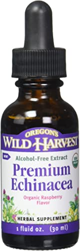 Oregon s Wild Harvest Organic Prem Echinacea-Raspberry Extract, 1 Fluid Ounce