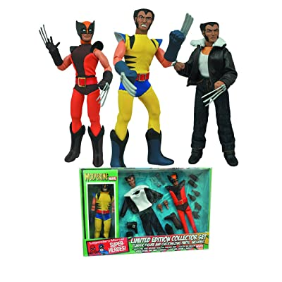 Diamond Select Toys Marvel Retro Cloth Wolverine Limited Edition Box Set Action Figure: Toys & Games