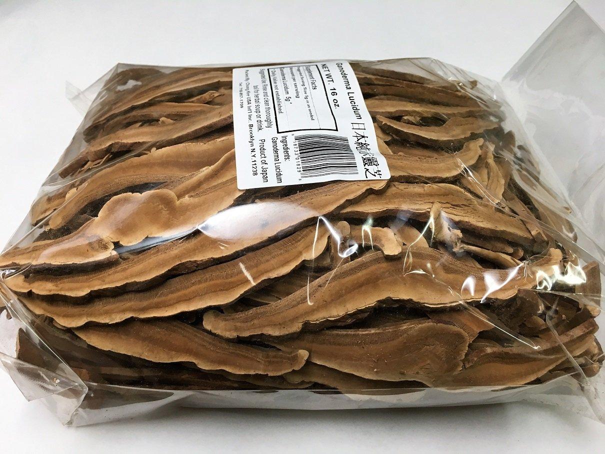 Premium Dried Japan Red Reishi Mushroom Slices – 16 oz. 1 lb.