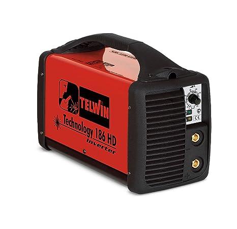 Telwin Soldador inverter electrodo soldadura MMA tecnology 186 HD