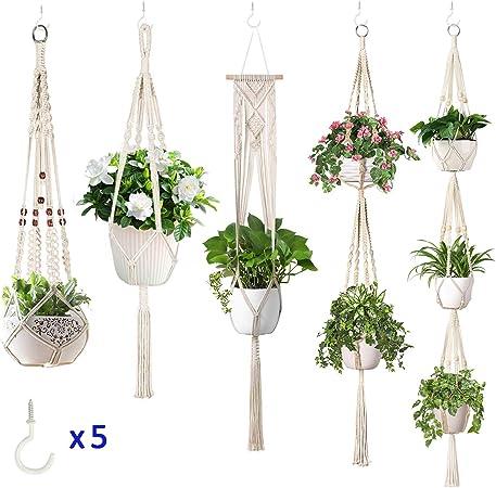 x3 Single  4 Leg Hanging Basket Chain Silver Flowers Christmas