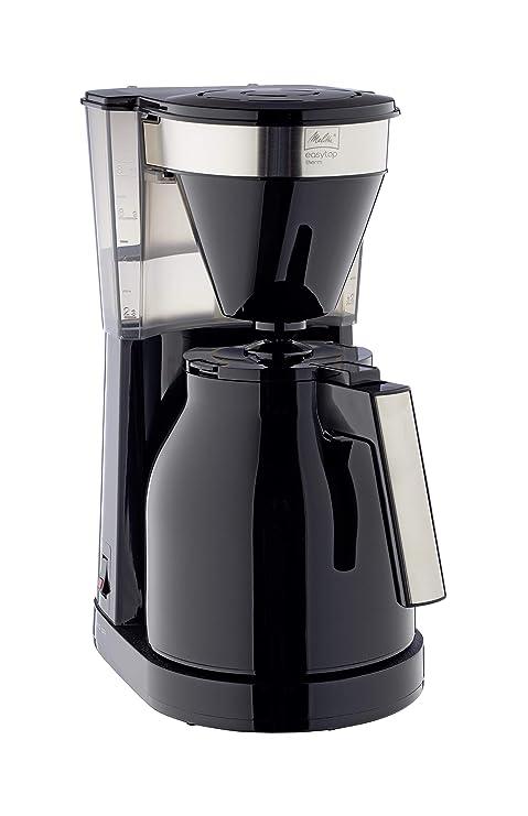 Melitta Cafetera de Goteo Therm II con Jarra Isotérmica, Función Easy Click, 1L de Capacidad, Negra con Detalles en Acero Inoxidable, 1023-08, 1050 W, ...