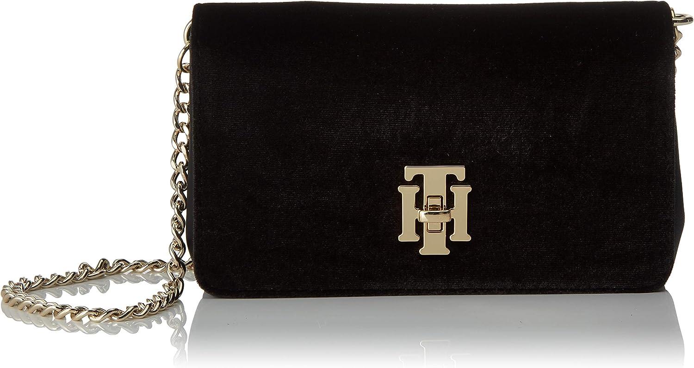 Tommy Hilfiger - Th Lock Mini Crossover Vt, Bolsos bandolera Mujer, Negro (Black), 5.5x11x18 cm (W x H L)