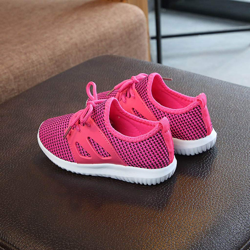 Kstare Girls Sneakers Kids Boys Athletic Running Walking Mesh Tennis Breathable Fashion Shoes