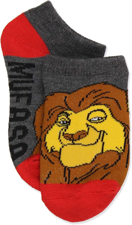 , Blue//Multi Sock: 4-6 Disney The Lion King Boys Girls Toddler Teen Adults 6 pack Socks Set Shoe: 7-10
