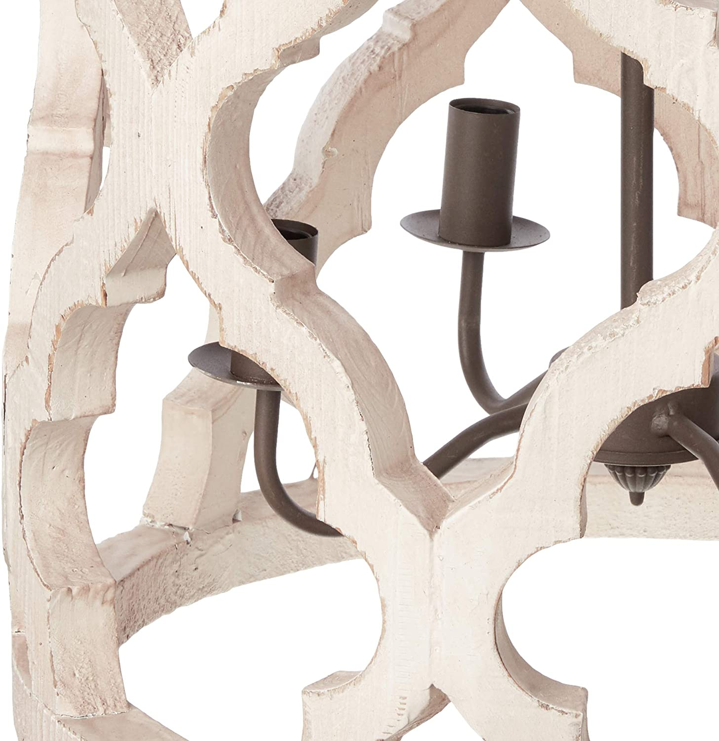 Jolette 4 Light Chandelier Wood