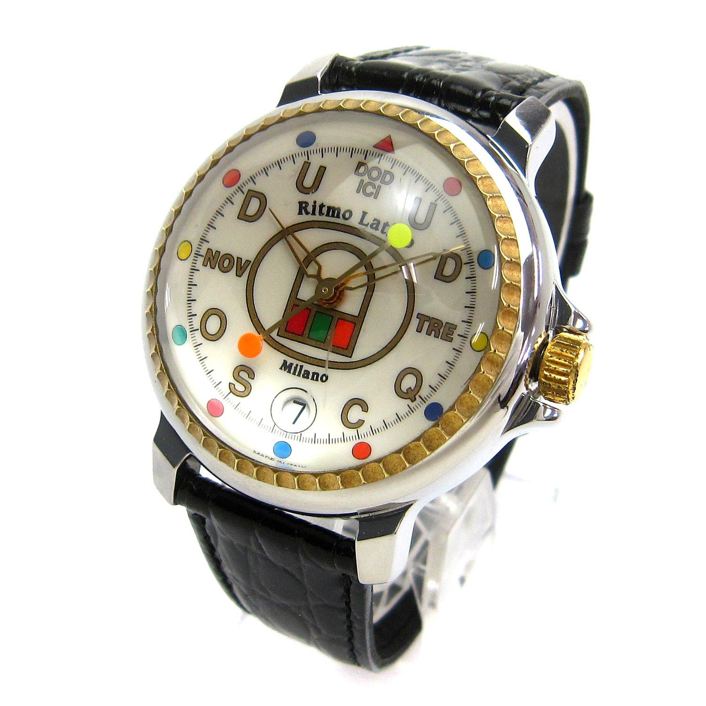 [リトモラティーノ]Ritmo Latino 腕時計 ドディッチ フィーノ ラージ 白文字盤 3001本限定 レア メンズ 中古 B079QGLWVF