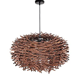 Pendelleuchte Lampe Rattan Braun Beige Kugel Gross Landhaus Esszimmerlampe Hngeleuchte Wohnzimmer Led Hngelampe Vogelnest Leuchten Kinder