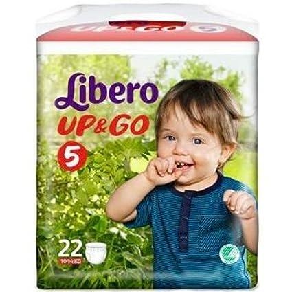 Libero Up & Go Pañales 5 (10-14 kg) 22 piezas