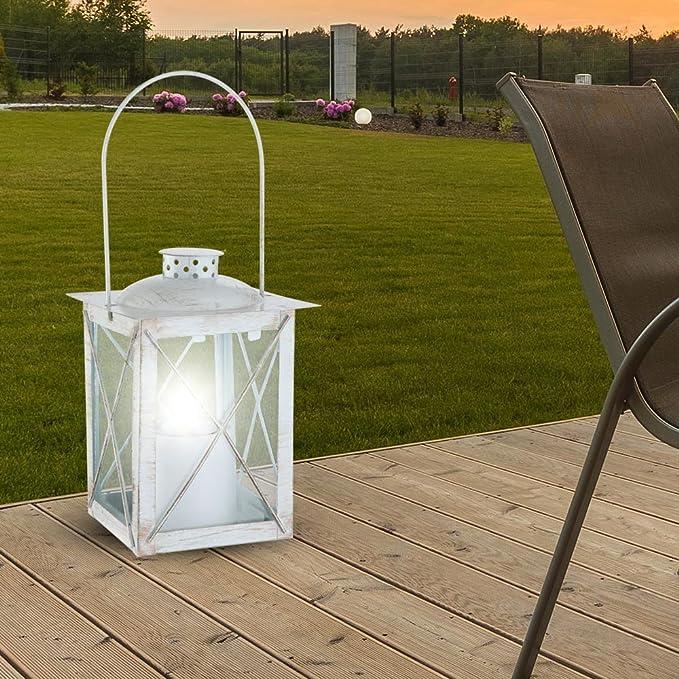 GLOBO - Farol Solar, Color Oro Blanco: Amazon.es: Hogar