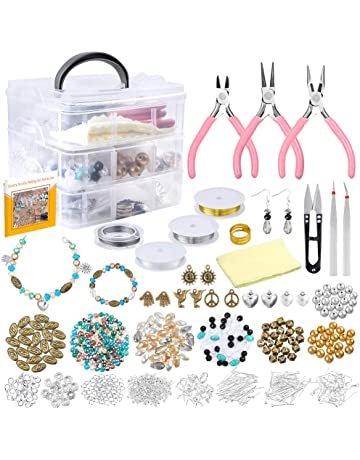 1e67b39c76 PP OPOUNT Jewelry Making Supplies with Instructions Includes 19 Styles  Beads, 8 Styles Findings,