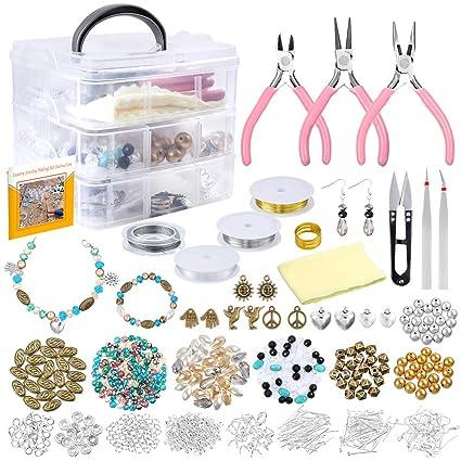 Jewellery Making Kits bead making Jewelry Making Starter Kit Set Earring Bracelet Necklace Jewelry Findings