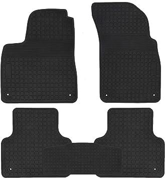 San Auto Car Floor Mat for Jeep Wrangler 2 Door 2014-2015-2016-2017,2 Pieces Custom Fit Full Black,Rubber Auto Floor Liner Mat All Weather Heavy Duty /& Odorless
