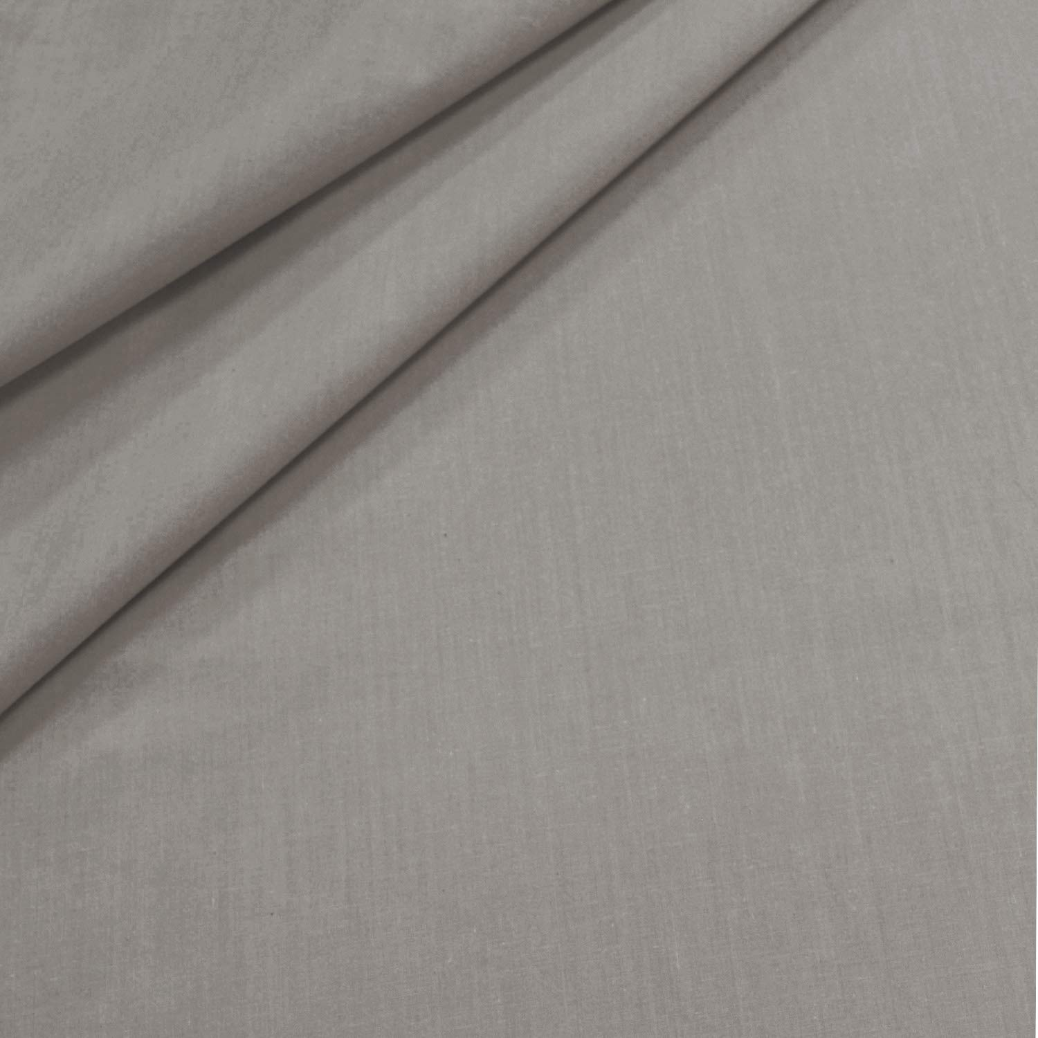 Essina Candies Collection Solid Color King Duvet Cover Set 3pc Gray Cotton 620 Thread Count